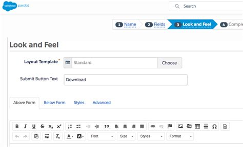 How To Create A Form With Email Autoresponder In Pardot Pardot Form Templates