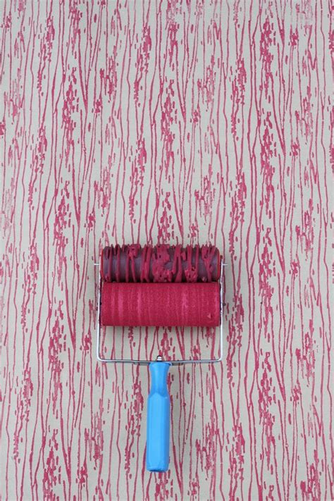 wallpaper design paint roller patterned paint roller in woodgrain with applicator by not