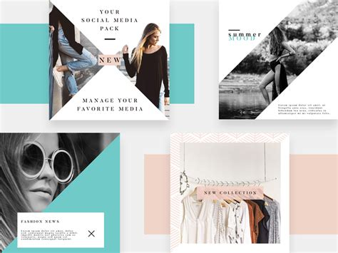 instagram design psd 4 instagram fashion templates psd freebie supply