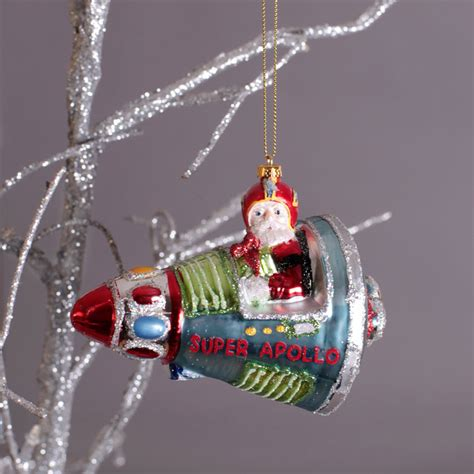santa in a rocket christmas decorations buy online uk