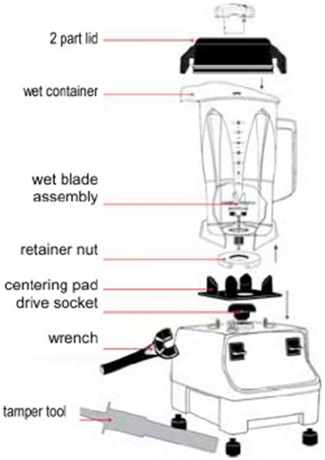 vitamix parts diagram vitamix two speed 1781 blender formerly the 4500 with 5