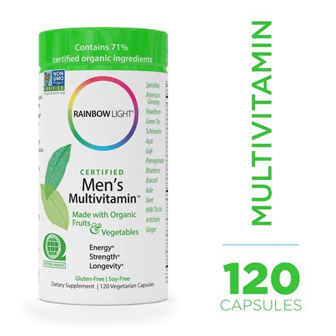 rainbow light certified men s multivitamin amazon com rainbow light men s organic multivitamin 120