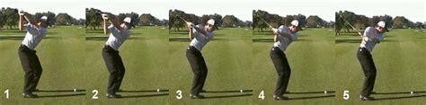 keep left shoulder down golf swing downswing
