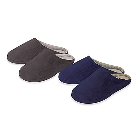 bed bath and beyond slippers men s memory foam slippers bed bath beyond
