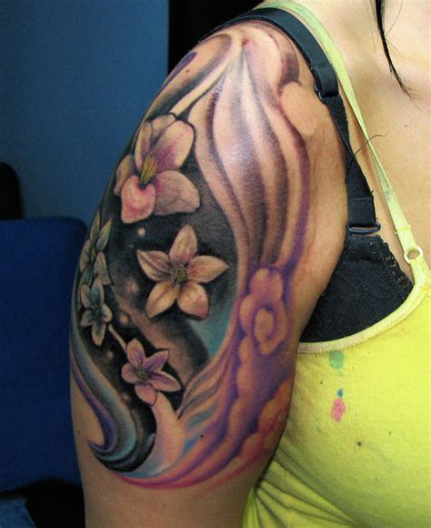 hawaiian flower tattoos large preview easy on the eye rayhern s tattoo 2 tattoo picture at checkoutmyink com