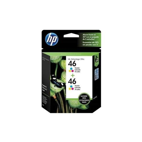 Tinta Hp 46 Color Original cartucho hp 46 pack x 2 unidades original de tinta tricolor