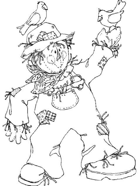 Free Printable Scarecrow Coloring Pages For Kids Scarecrow Color Page