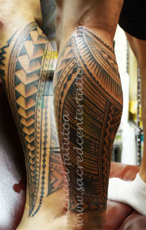 polynesian leg tattoo leg tattoos and designs page 32