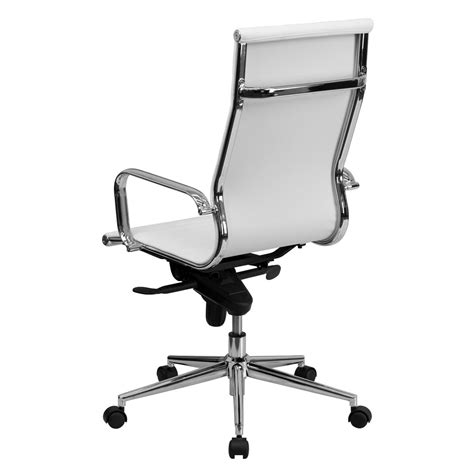 white high  leather chair bt  wh gg bizchaircom