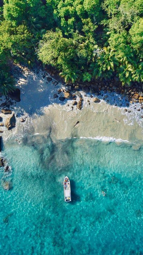 silhouette island beach aerial view  wallpapers hd