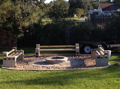 cinder block and wood bench cinder block fire pit 22 with cinder block fire pit diy