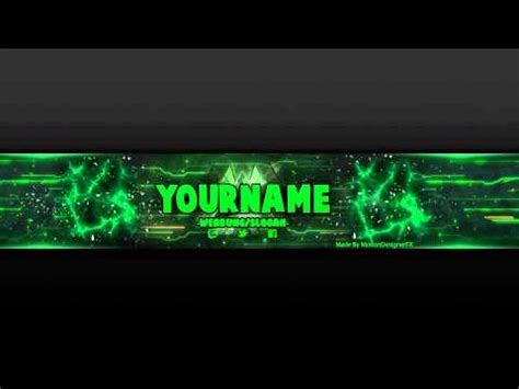 youtube banner template green.psd photoshop youtube