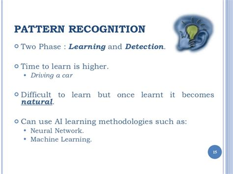 pattern recognition applications ppt pattern recognition