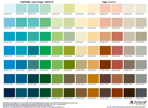 color palette pantone pantone color bridge cmyk 13 pantone pinterest
