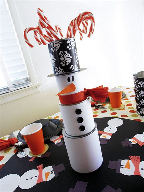 snowman centerpiece ideas decorating with snowmen the bright ideas