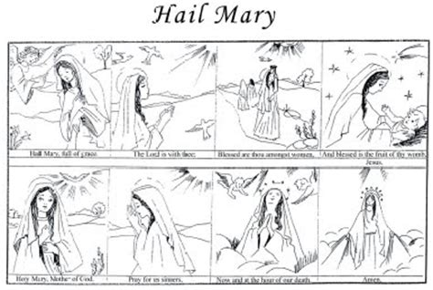 hail mary prayer coloring sheet coloring pages