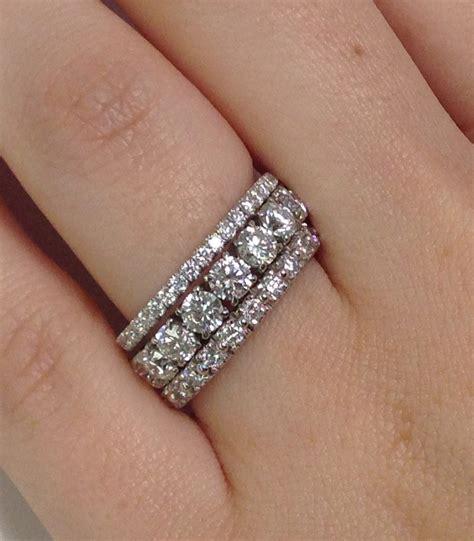 wedding rings how do wear eternity bands adiamor