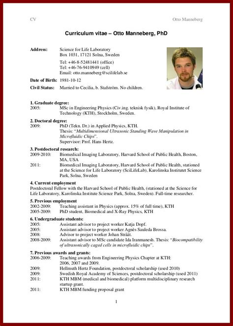 cv template phd student cv writing for students