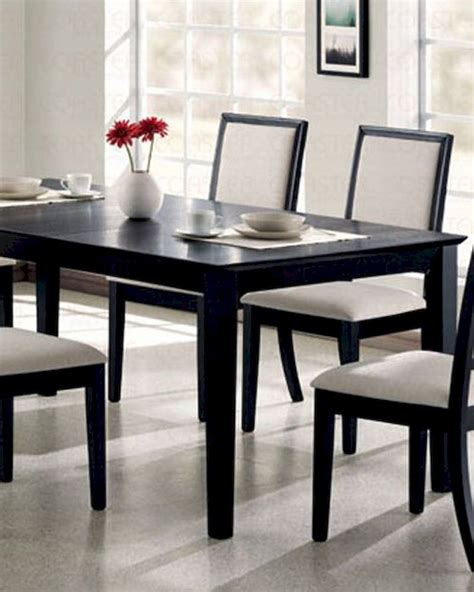 distressed black dining table dining table in distressed black coaster