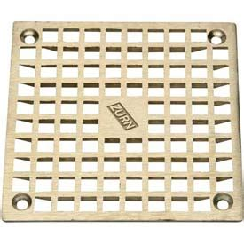 zurn floor drain cover drains traps floor drains zurn 9 quot x 9 quot square floor drain w screws nickel b677521