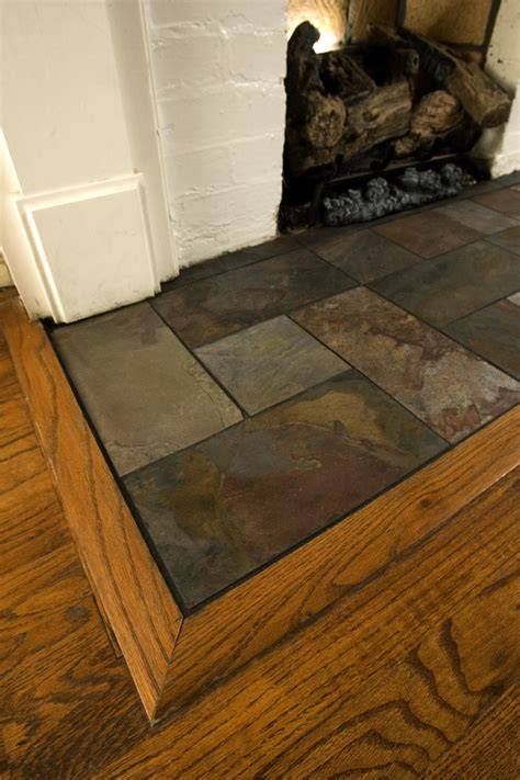 Slate Tiles For Fireplace Hearth by Slate Fireplace Hearth Living Room Modern With Contempo