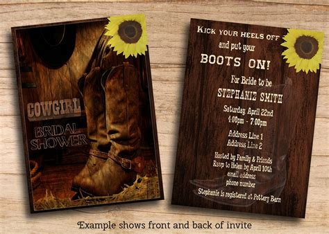 Western Theme Invitations Templates Western Themed Invitations Templates Free