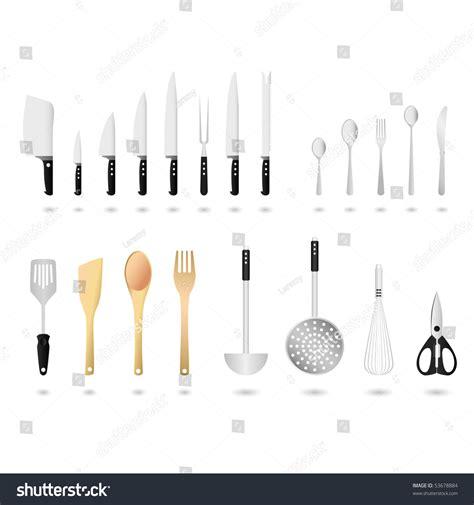 kitchen utensils design kitchen utensils set vector stock vector 53678884