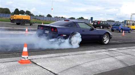 corvette c4 drag race acceleration sound