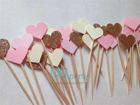 Handmade Cupcake Toppers - 40pcs handmade lovely pink cupcake toppers baby