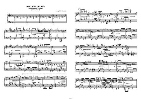 alexandre desplat river flows ноты саундтрека quot s lullaby quot из фильма quot сумерки quot