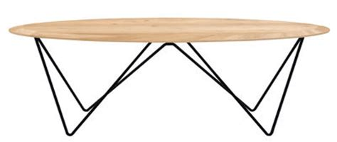 Orb Table L Orb Coffee Table L 130 Cm Wood Black Leg By Universo Positivo