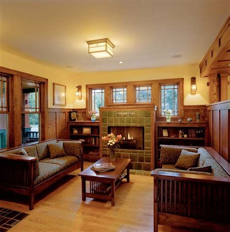 prairie style homes interior 48 best images about mission style living rooms on