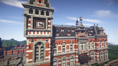 Build A Victorian House grand palace train station minecraft hd wallpaper