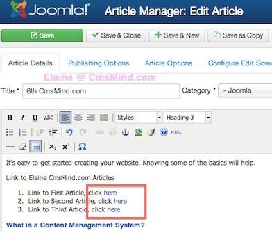 joomla article tutorial joomla 3 0 how to link to an article in joomla