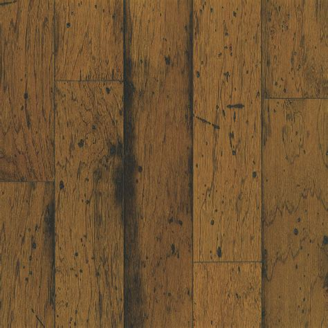 Distressed Hardwood Flooring Shop Bruce Distressed 5 In W Prefinished Hickory Locking
