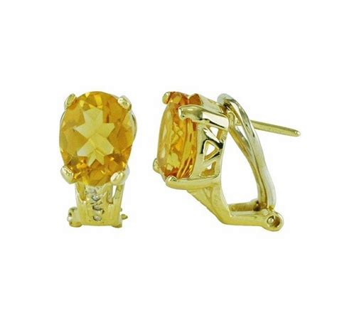 Citrine Oval oval citrine and earrings