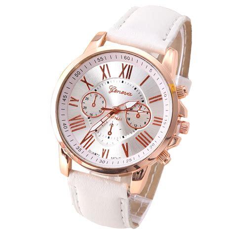 aliexpress quality new best quality geneva platinum watch women pu leather