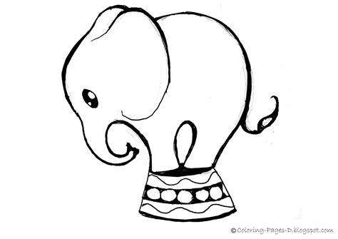 elephant drawing coloring page coloring pages d free elephant coloring pages