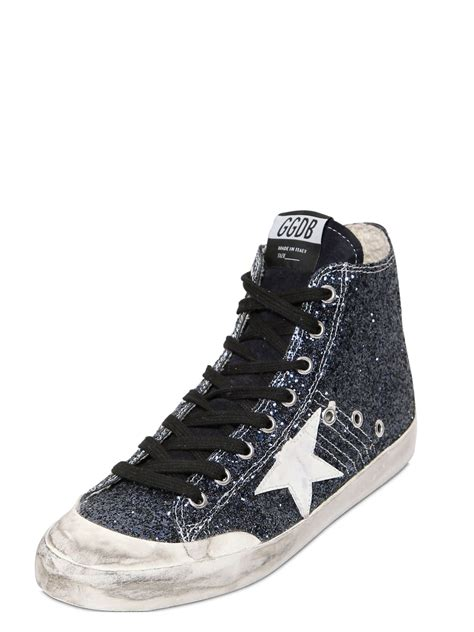 golden goose high top sneakers golden goose deluxe brand francy glitter leather high top