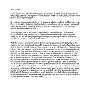 Thank You Letter To Parents Thank You Letter To Parents Sle 8 Documents In Pdf