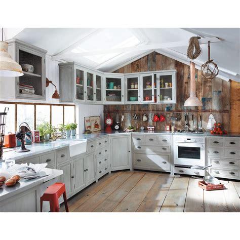 mobile d angolo mobile alto ad angolo da cucina grigio in acacia l 76 cm