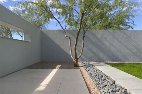 Southwestern Home Designs Landscape Design Phoenix Landscape Modern With Concrete
