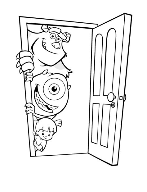 pictures to color coloring page monsters inc monsters inc parenting