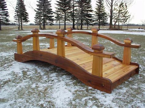 wooden garden bridge garden bridges 4 52ft long elegant wooden landscape