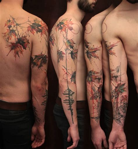watercolor tattoo leaves 32 fall tattoos collection