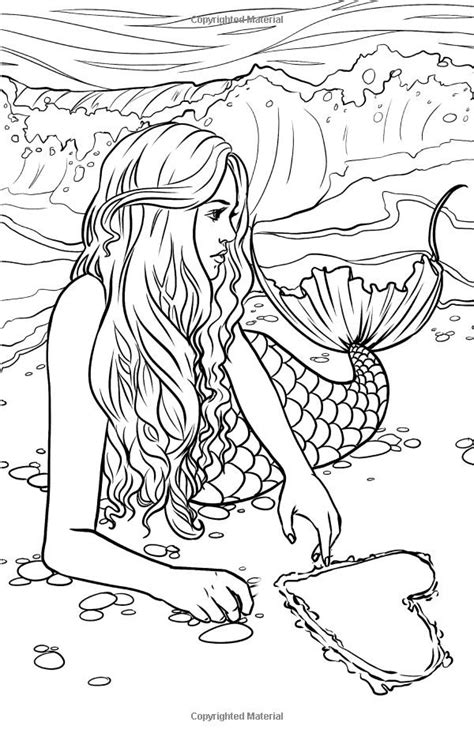 Mermaids For Adults Coloring Pages | printable coloring pages for adults mermaids