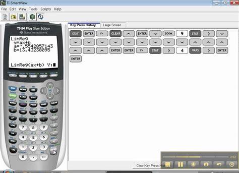 calculator regression ti 84 linear regression youtube