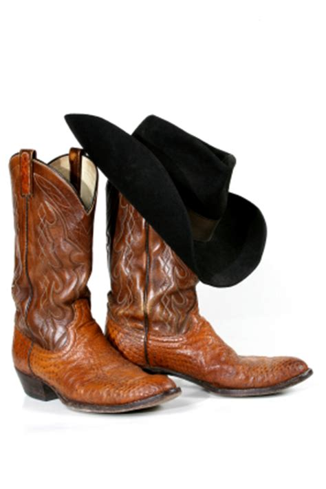 cowboy boots and hat one writer s way