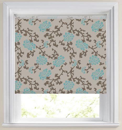 teal patterned roller blind elise roller blinds buy elise teal roller blinds