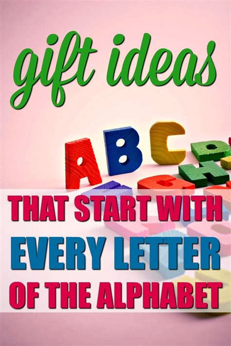 Gift Ideas Starting With Letter S